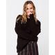 SKY AND SPARROW Fuzzy Boyfriend Womens Black Tunic Sweater