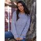 SKY AND SPARROW Fuzzy Boyfriend Womens Grey Tunic Sweater