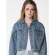 RSQ Crop Frayed Womens Denim Jacket