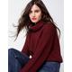 WOVEN HEART Stitch Womens Turtleneck Sweater