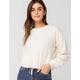 SKY AND SPARROW Woobie Cinch Tie Ivory Womens Sweater