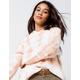 FULL TILT Tie Dye Peach Womens Hooded Sweater