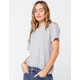 FULL TILT Essentials Slub Womens Heather Grey Tee
