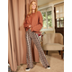 SKY AND SPARROW Paisley Womens Flare Pants