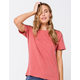 FULL TILT Essentials Slub Womens Rust Tee