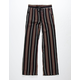 WHITE FAWN Stripe Black & Mustard Girls Palazzo Pants