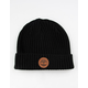 TIMBERLAND Ribbed Watch Cap Black Mens Beanie