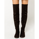 WILD DIVA 50/50 Over The Knee Womens Flat Boots