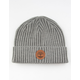 TIMBERLAND Ribbed Watch Cap Heather Gray Mens Beanie