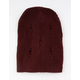 DAVID AND YOUNG Slouchy Ribbed Burgundy Womens Beanie