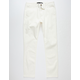 RSQ Seattle Skinny Tapered Stretch Off White Mens Chino