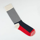 HAPPY SOCKS Striped Mens Crew Socks