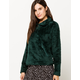 THE NORTH FACE Furry Fleece Quarter Zip Ponderosa Green Womens Sweatshirt