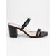 BAMBOO Double Strap Block Heels