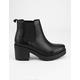 SODA Lug Sole Womens Chelsea Boots