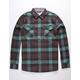 JETTY Breaker Mint Mens Flannel Shirt