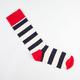 HAPPY SOCKS Mens Striped Crew Socks