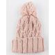 Oversized Knit Blush Womens Pom Beanie