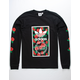ADIDAS Rose Box Logo Black Mens T-Shirt