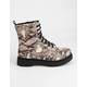 SODA Grunge Lace Up Snake Womens Combat Boots