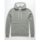 INDEPENDENT TRADING COMPANY Gunmetal Mens Zip Hoodie