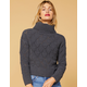 WEST OF MELROSE Open To Knit Matte Chenille Womens Sweater