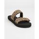 VANS Mini Leopard Cayucas Womens Velcro Slide Sandals