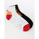 FULL TILT 2 Pack Flames Womens Crew Socks
