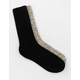 FULL TILT 2 Pack Marled Black Womens Crew Socks