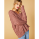 WEST OF MELROSE Feelin' Knit Oversized Cable Knit Womens Sweater