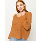 RIP CURL Woven V-Neck Ginger Womens Sweater