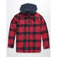 IMPERIAL MOTION Parker Red Mens Hooded Flannel Shirt