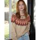 SKY AND SPARROW Fair Isle Womens Sweater