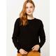 IVY & MAIN Open Twist Back Black Womens Sweater