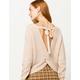 IVY & MAIN Open Twist Back Oatmeal Womens Sweater