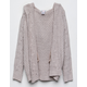 WOVEN HEART Cable Knit Girls Hooded Cardigan