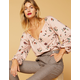 WEST OF MELROSE You Had Me At Floral Womens Top