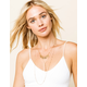 WEST OF MELROSE Layered Stone Lariat Necklace