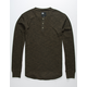 RSQ Henley Olive Mens Thermal