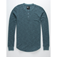 RSQ Henley Blue Mens Thermal