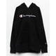CHAMPION Raglan Black Girls Hoodie