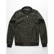 MEMBERS ONLY Iconic Racer Dark Green Mens Jacket