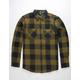 VOLCOM Shade Stone Green Mens Flannel Shirt