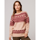 SKY AND SPARROW Fair Isle Womens Tunic Sweater