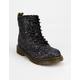 DR. MARTENS 1460 Chunky Black Glitter Girls Boots