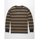 BRIXTON Hilt Black Combo Stripe Mens T-Shirt