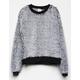 DESTINED Frosted Black Girls Crew Sweatshirt