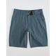 NITROUS BLACK Format Boys Heather Blue Hybrid Shorts