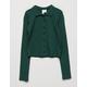 WHITE FAWN Polo Boyfriend Hunter Green Girls Shirt