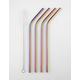 Rainbow Reusable Metal Straws